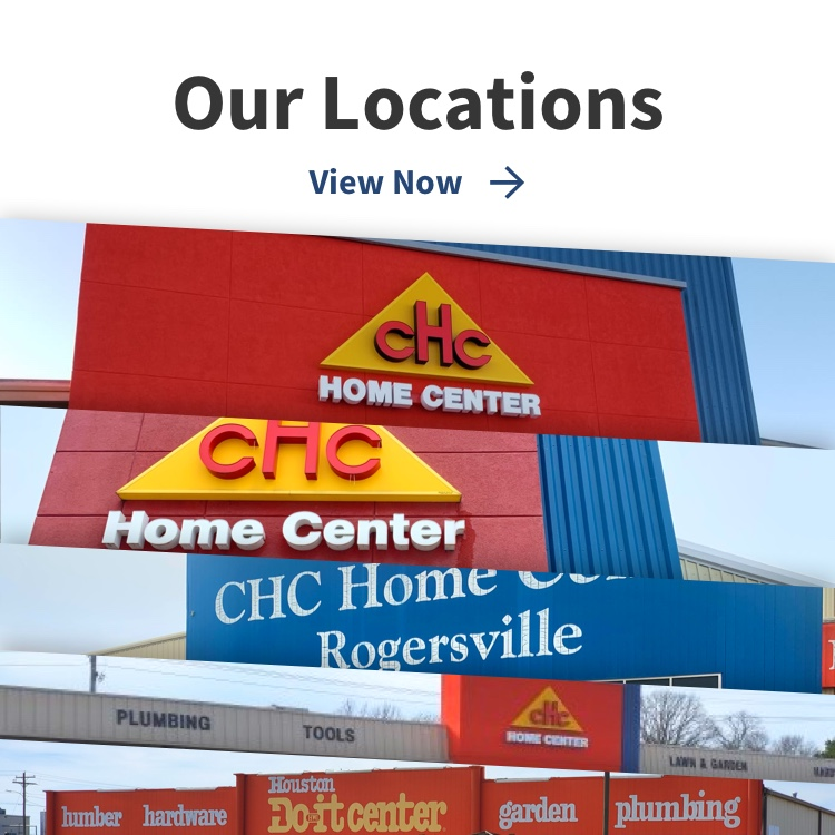 Our Locations text with view now link and five pictures of locations