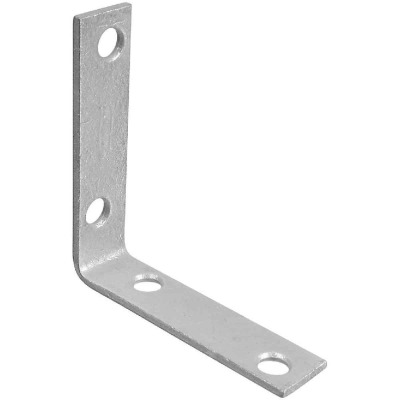 National Catalog V115 2-1/2 In. x 5/8 In. Galvanized Steel Corner Brace (4-Count)