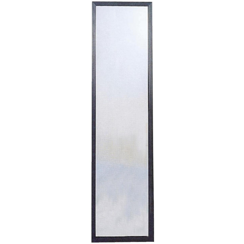 Home Decor Innovations Suave 13 In. x 49 In. Black Plastic Door Mirror Image 1