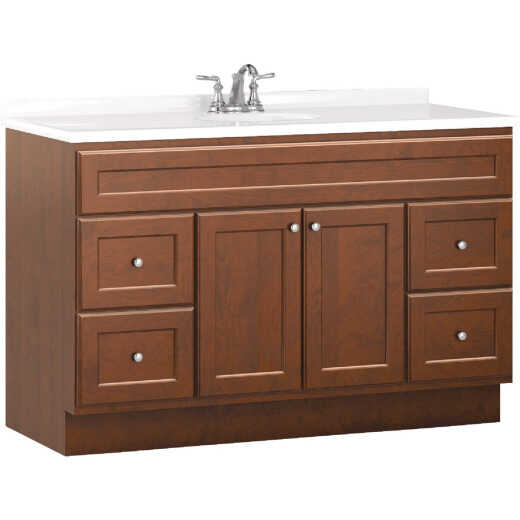 Bertch Northbrook 48 In. W x 34-1/2 In. H x 21 In. D Dawn Vanity Base, 2 Door/4 Drawer