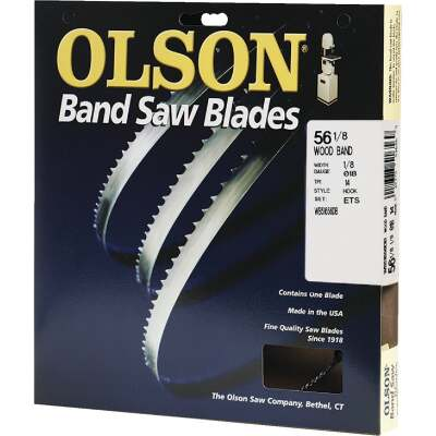Olson 56-1/8 In. x 1/8 In. 14 TPI Hook Wood Cutting Band Saw Blade