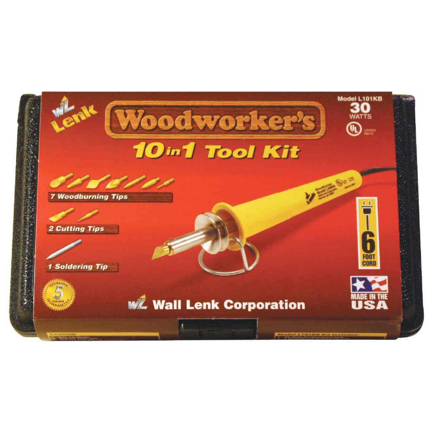 Wall Lenk Woodworker's 30W 10-in-1 Wood Burning Kit Image 4