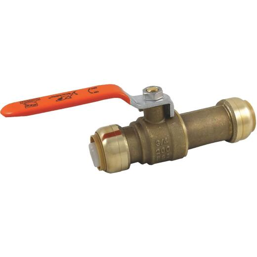 SharkBite 3/4 In. Brass Push-Fit Slip Ball Valve