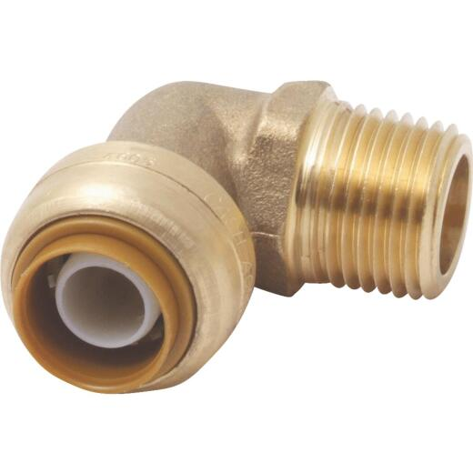Sharkbite 3/4 In. x 3/4 In. Brass 90-Degree Push-to-Connect MNPT Elbow