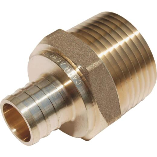 SharkBite 3/4 In. CF x 1 In. MPT Brass PEX Adapter