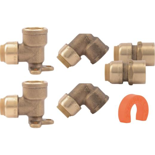 SharkBite 1/2 In. Push-to-Connect Shower Brass Installation Kit