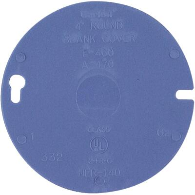 Carlon 4 In. Blank Blue Round Box Cover