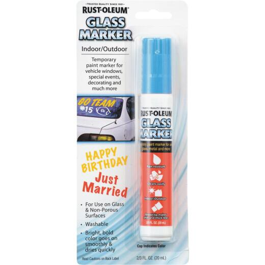 Rust-Oleum 2/3 Oz. Blue Window Paint Marker