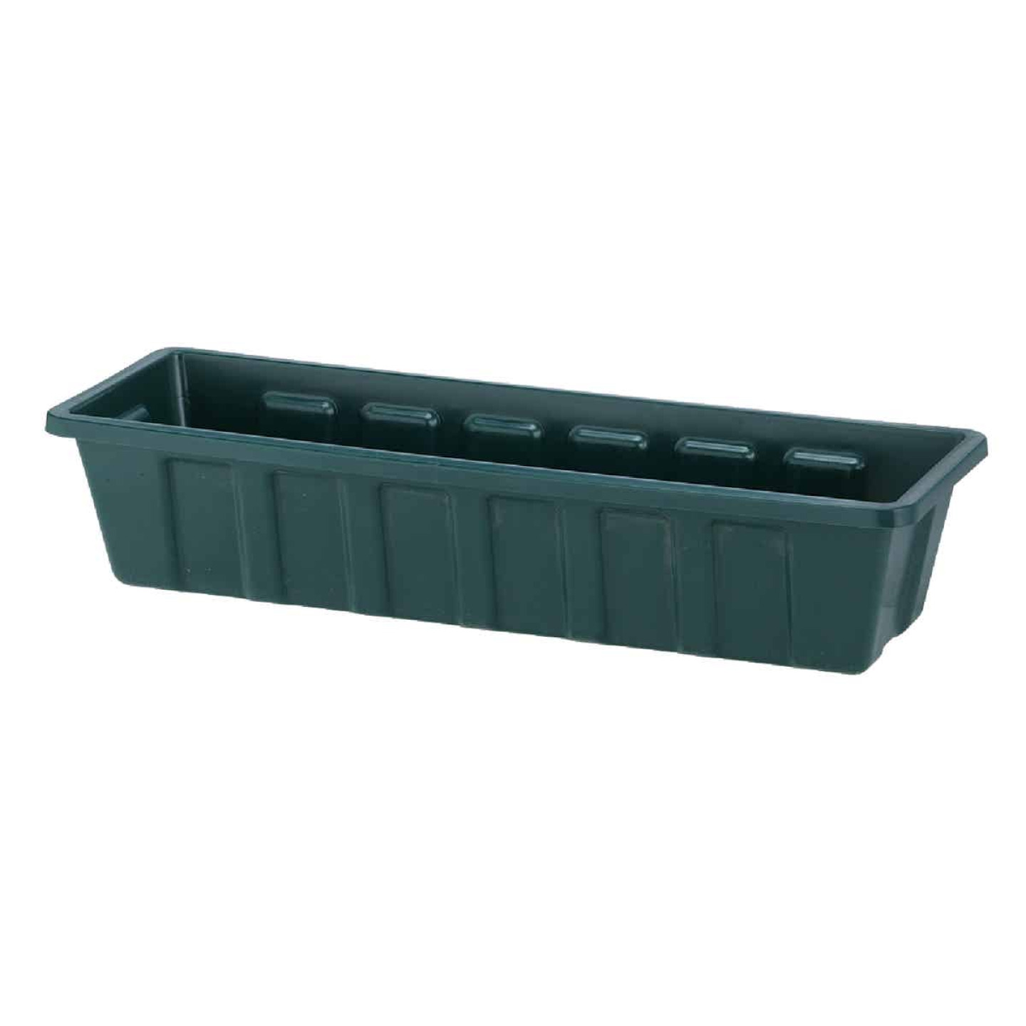 Novelty Poly-Pro 24 In. Polypropylene Hunter Green Flower Box Planter Image 1