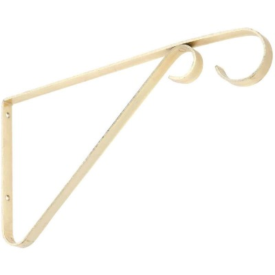 National 6 In. Brass Steel Hanging Plant Bracket