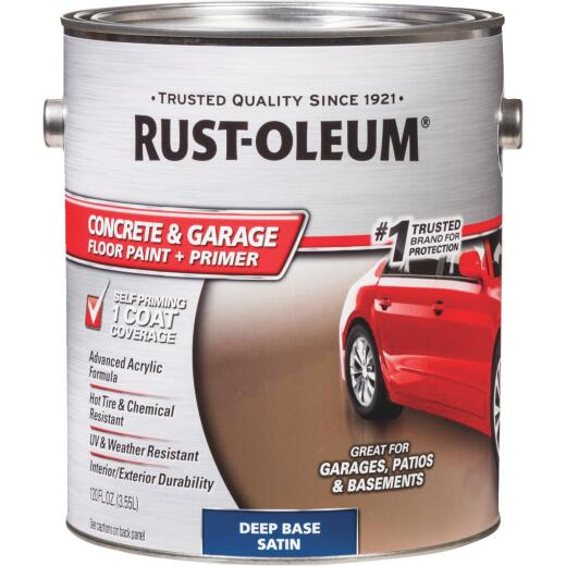 Rust-Oleum Concrete & Garage Floor Paint & Primer, 1 Gal., Deep Base