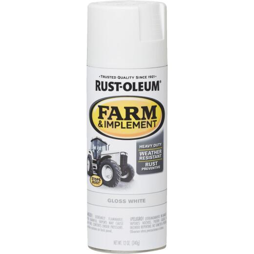 Rust-Oleum 12 Oz. Gloss White Farm & Implement Spray Paint