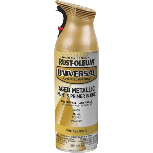 Rust-Oleum Universal 11 Oz. Metallic Vintage Gold Spray Paint & Primer In One