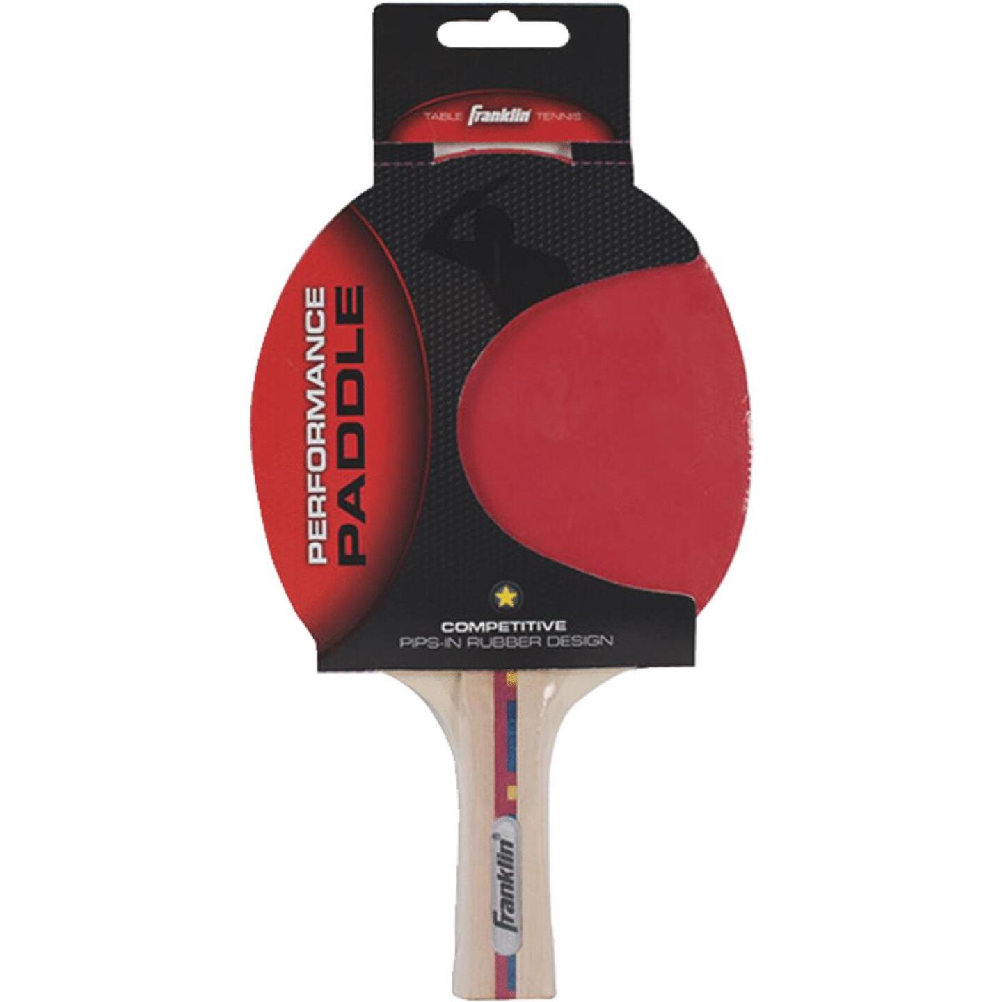 Franklin Flared Handle Rubber Face Table Tennis Paddle Image 1